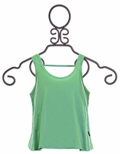 T2 Love Tank Top for Girls in Teal