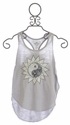 T2 Love Tank Top for Tweens with Meditation Flower