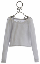 T2 Love Tween Long Sleeve Top in Gray (Size 8)