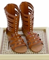 Tall Gladiator Sandals for Tweens in Brown by Josmo