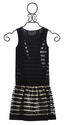 The Collection Tween Pleather Skirt and Tank in Stripes
