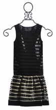 The Collection Tween Pleather Skirt and Tank in Stripes (Size 7)