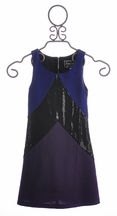 The Collection Tween Sheath Dress Purple Alexis Stripe (Size 7)