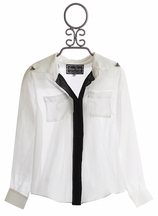 The Collection White Sheer Tween Blouse (Size 10, 14 & 16)