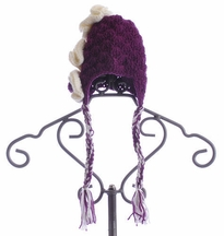 The Daisy Baby Blair Girls Crochet Hat Purple (Size 2-8)