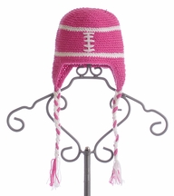 The Daisy Baby Candy Pink Girls Crochet Hat Football Fan