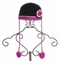 The Daisy Baby Piper Black Crochet Hat for Girls