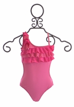 To The 9's Asymmetrical One Piece Swimsuit for Girls (Size 12)