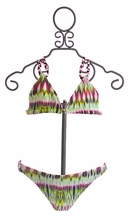 To The 9's Bikini for Girls Reversible Pattern (7,8,10)