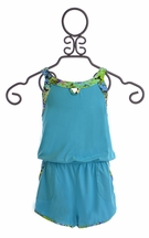 To The 9's Blue Romper for Girls (7 & 8)