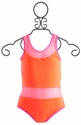 To The 9's Neon Orange Sporty Tween Swimsuit