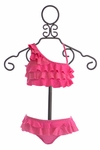 To The 9's One Shouldered Bikini with Ruffles