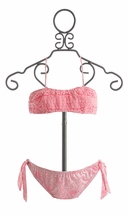 To The 9's Pink Bandeau Bikini (14 & 16)
