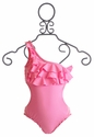To The 9's Ruffled Tween Swimsuit in Pink (Size 14)