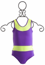 To The 9's Sporty Purple Tween Girls Swimsuit (Size 8)