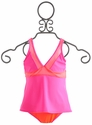 To The 9's Sporty Tween Tankini with Mesh Detail