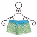To The 9's Tween Cover Up Shorts in Aqua Blue (7 & 8)