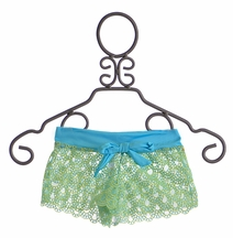 To The 9's Tween Cover Up Shorts in Aqua Blue (7 & 12)