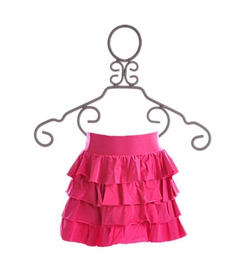 To The 9's Tween Cover Up Skirt Fuchsia Ruffles