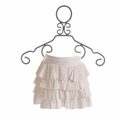 To the 9's Tween Cover Up Skirt White Ruffles