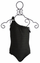 To The 9's Tween Girls Black Swimsuit with Buckle