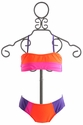 To The 9's Tween Girls Neon Bandeau Bikini (Size 16)