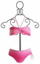 To The 9's Tween Girls Ruched Bandeau Bikini (Size 8 & 16)