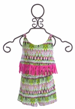 To The 9's Tween Romper in Fuchsia Fringe (8 &10)