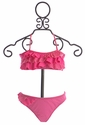 To The Nine's Bandeau Bikini for Girls in Pink