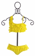 To The Nine's Girls Ruffle Bikini Set in Yellow (5,6X,7)