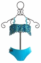 To The Nines Macrame Blue Tween Swimsuit (Size 16)