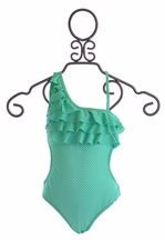 To The Nine's Ruffle Bathing Suit for Tweens (7,8,10)
