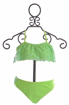 To The Nine's Tween Bikini in Lime Green (Size 10)