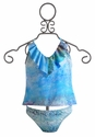 To The Nine's Tween Tankini with Blue Ombre (Size 10)