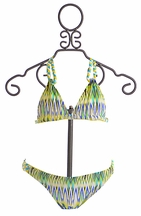 To The Nine's Tween Two Piece Swimsuit in Reversible Blue (Size 8)