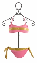 To The Nines Girls Pink and Gold Bikini (14 & 16)