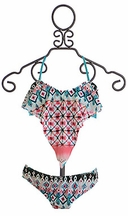 To The Nines Handkerchief Bikini with Reversible Bottoms (Size 7)