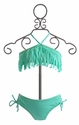 To The Nines Mint Fringe Bikini for Girls (Size 7, 8, & 16)