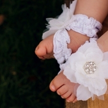 Toe Blooms Angel Eyes Infant Girls Foot Wraps