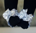 Toe Blooms Beauty Silver Bow Infant Foot Wrap
