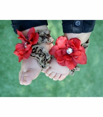 Toe Blooms Cheetah Wild Thing Baby Foot Wraps