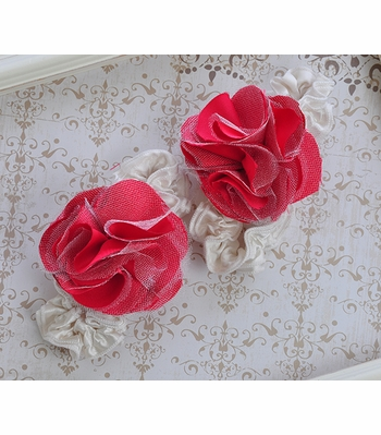 Toe Blooms Infant Foot Wraps with Red Flower