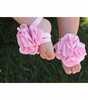 Toe Blooms Infant Girls Foot Wrap Bubblegum