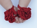 Toe Blooms Red Strawberry Shortcake Baby Foot Wraps