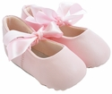 Trimfoot Pink Leather Sabrina Baby Shoes