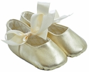 Trimfoot Sabrina Gold Leather Baby Shoes