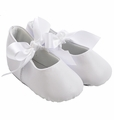 Trimfoot Sabrina White Leather Baby Shoes