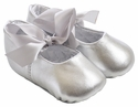 Trimfoot Silver Sabrina Leather Baby Slippers
