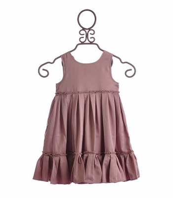 Troizenfants Girls Party Dress Light Lavender with Ruffles