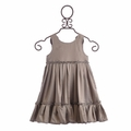 Troizenfants Girls Party Dress Silver with Ruffles